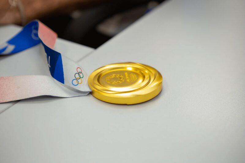 Miltos Tentoglou at Cardlink - The medal